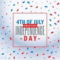 4 juillet fond de célébration