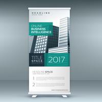 modern standee rollup banner design template