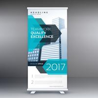 blu business roll up banner design modello standee