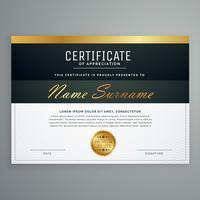 design de certificado premium. modelo de vetor de prêmio de diploma