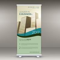enrollar la plantilla de banner para la presentación de negocios
