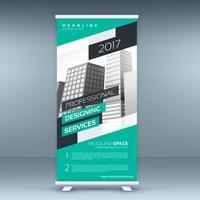 banner de modelo de design moderno standee