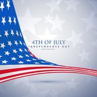 amerikanische Flagge im Wellenstil. 4. Juli Hintergrund