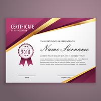 modern certificaatsjabloonontwerp met gouden strepen