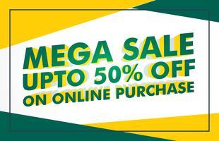 gul grön försäljning rabatt banner mall design