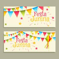 festa junina celebration banners