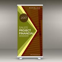 abstract business roll up banner template in retro colors