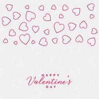 valentine's day line hearts background design