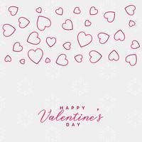 valentins daglinje hjärtan bakgrundsdesign