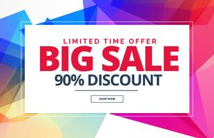 verkoop banner of voucher sjabloonontwerp met abstracte vormen