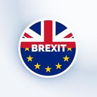símbolo de brexit con bandera de uk y eu