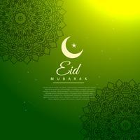 Fondo de festival de eid mubarak verde