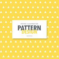 driehoek vormen patroon op gele achtergrond