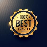 realisitc Goldenes Label mit bester Qualität für Ihre Markenanzeige