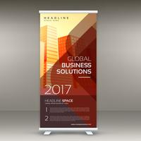 modern röd business rollup banner design