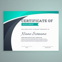 Stylish Blue Certificate Design Template  Certificate Designs Templates