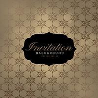 schöner Einladungshintergrund mit Musterdesign
