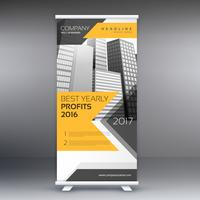 entreprise roll up banner template presentation