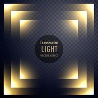 abstract transparent light effect frame design