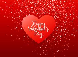 conception de voeux belle Saint Valentin rouge avec des paillettes