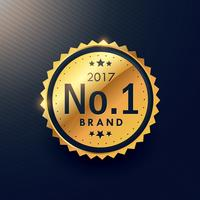 número um rótulo de luxo premium de marca dourada para anunciar seu b