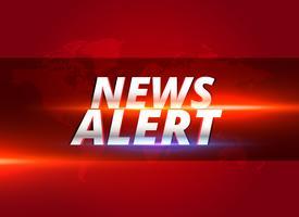 news alert concept graphic design per canali di notizie tv