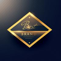 bästa märkes gyllene etikett och märkesdesign