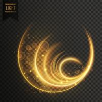 golen magic vector light effect