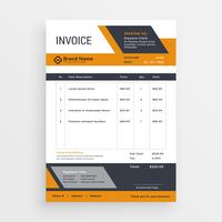 creative invoice template vector design