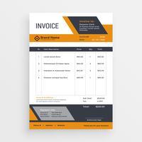 design de vetor de modelo de factura criativa