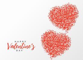 kreatives Design des roten Herzens des Glitters für Valentinstag