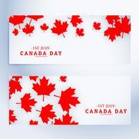 Banner del 1 ° luglio in Canada