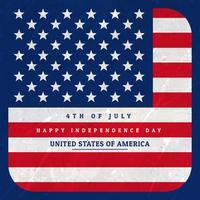bandera americana fondo ilustración