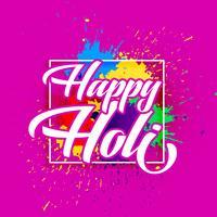 joyeux holi festival de couleurs voeux design