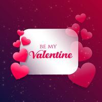 rosa hjärtan bakgrund för valentins dag