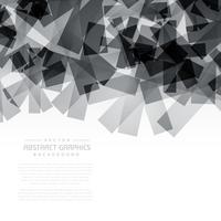 Fondo de formas abstractas negro
