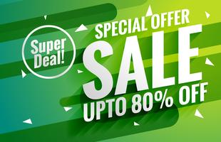 awesome green sale banner voucher for marketing design