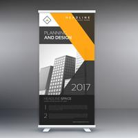 black and yellow roll up banner template for your brand