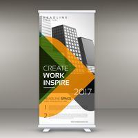 rulla upp banner stativ mall design