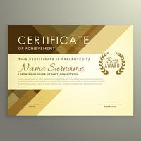 Diseño moderno certificado en estilo premium