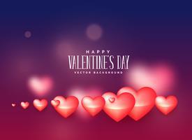 Herzhintergrund für Valentinstag