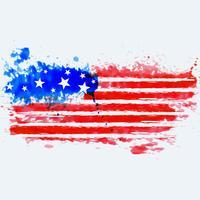 drapeau américain fait à l'aquarelle