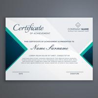 Diploma de certificado con diseño moderno.