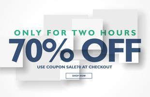 minimal sale discount voucher banner template design