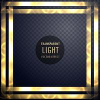 dynamic light frame effect background vector