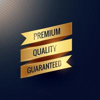 premium quality guaranteed golden ribbon design
