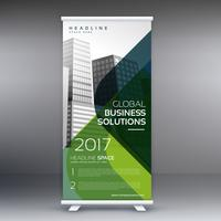 kreativ standee rulla upp display banner vektor mall design