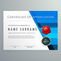 certificate of appreciation modern template design