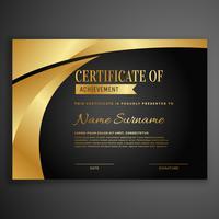 modèle de conception de certificat sombre de luxe