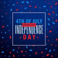 4 juillet fond de fête de célébration
